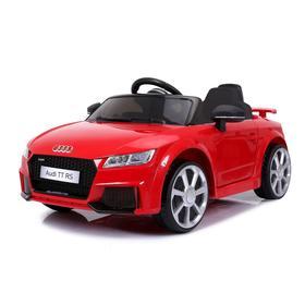 Электромобиль AUDI TT RS, цвет красный, EVA, кожаное сидение, уценка (потёртости, трещины, нет пульта и AUX)