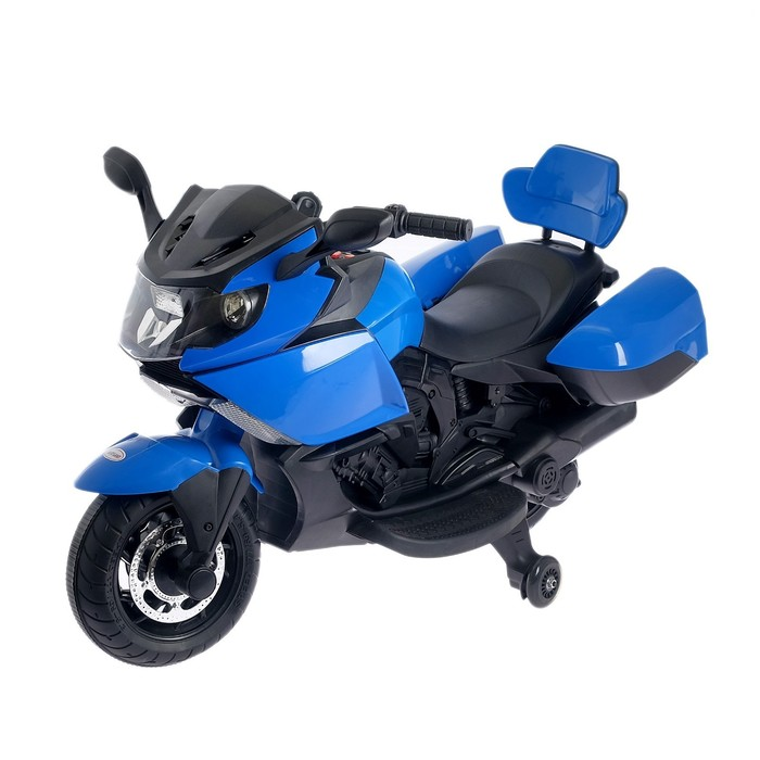 Уценка Электромобиль «Спортбайк», световые и звуковые эффекты, цвет синий (скол на корпусе)