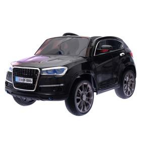 Электромобиль «Кроссовер», 2 мотора, EVA, кожаное сидение, цвет чёрный (царапины, трещина, нет пульта)