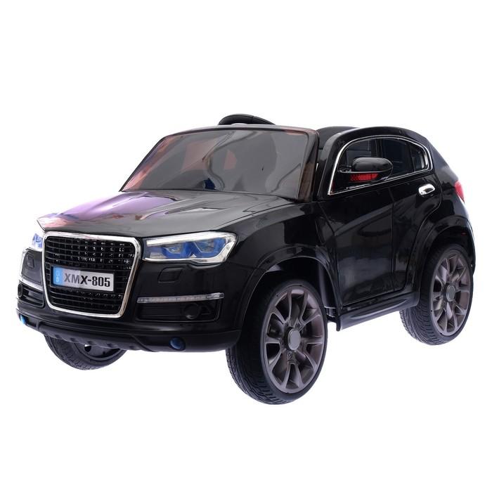 Уценка Электромобиль «Кроссовер», 2 мотора, EVA, кожаное сидение, цвет чёрный (царапины, трещина, нет пульта)