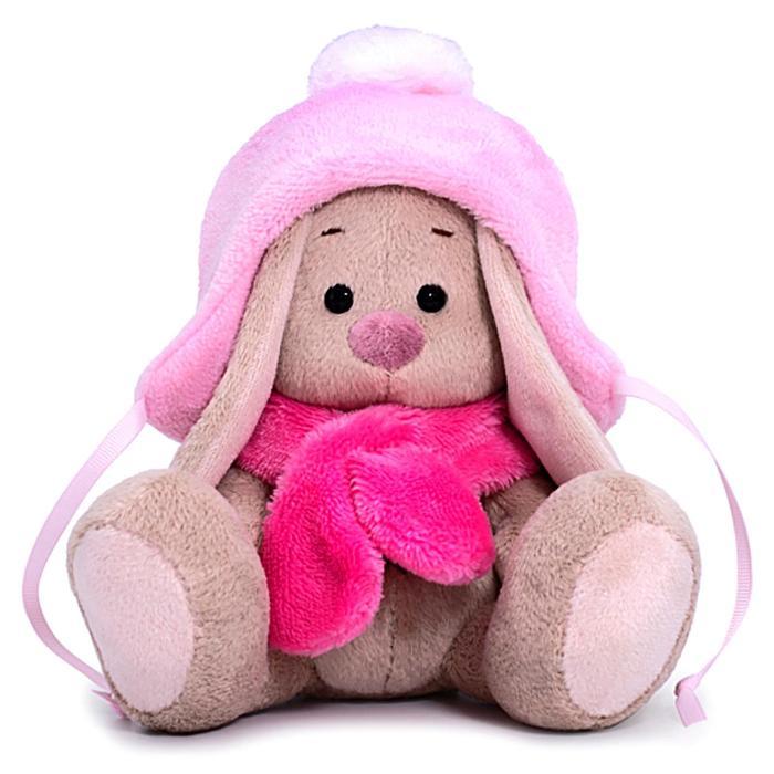Мягкая игрушка «Зайка Ми в шапке с помпоном и шарфе», 15 см - фото 4467658