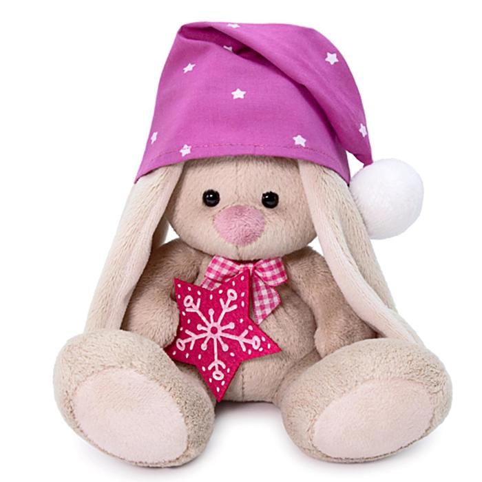 Мягкая игрушка «Зайка Ми в сиреневом колпачке», 15 см - фото 726734546