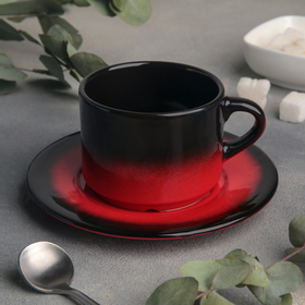 Tea pair: 200 ml cup with saucer 15.5 cm, h 6.5 cm