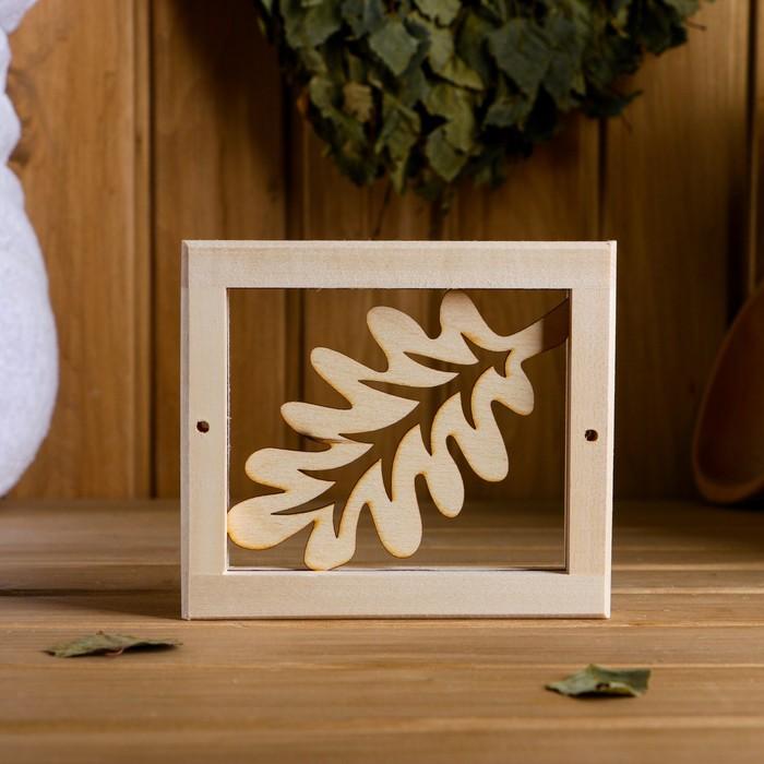 """Вентиляционная решетка """"Банный лист"""" 14,5×12,5 cм"""