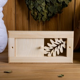 Вентиляционная крышка из липы, 'Банный лист', 31×15 cм  , с задвижкой Ош