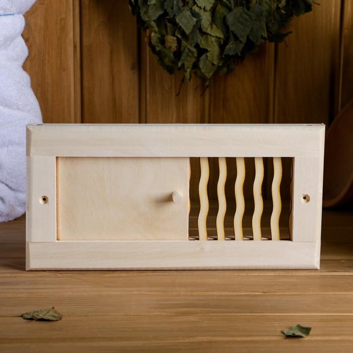 """Вентиляционная решетка """"Пламя"""" малая, с задвижкой, 31×15 cм"""