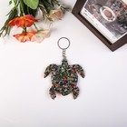 "Keychain textiles, plastic bugle bilateral ""Turtle"" 8,5x8,5 cm"