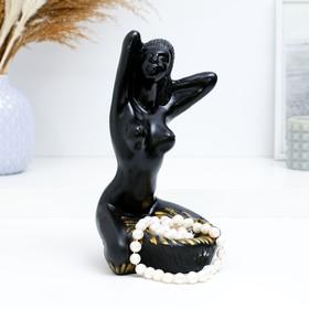 """Подставка для мелочей """"Египтянка"""" черная, 14х14х24см"""