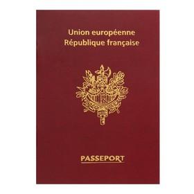 Notebook A6 16L Passport France, mat.lam, 3D foul, bl 80g / m2 61608.