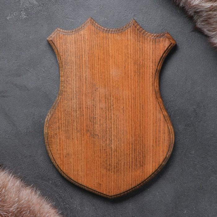 Медальон для охотничьих трофеев «Охотничий» массив бука, крашеная 25 х 32 см,