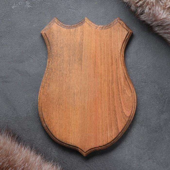 Медальон для охотничьих трофеев «Волк» массив бука, крашеная 19 х 26 см,