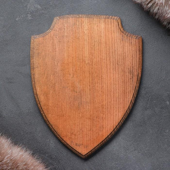 Медальон для охотничьих трофеев «Щит», крашеная, 25х32 см, массив бука