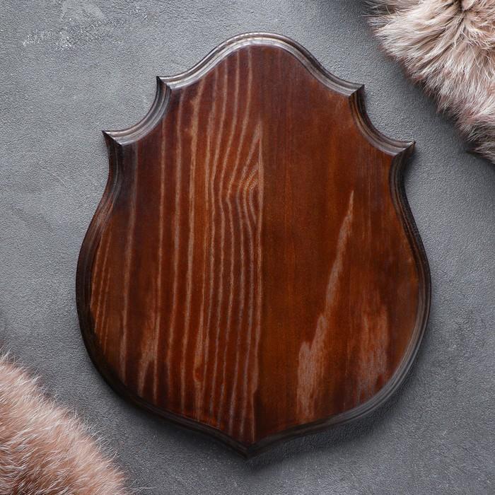 Медальон для охотничьих трофеев, массив дуба, 30 х 25 х 3 см