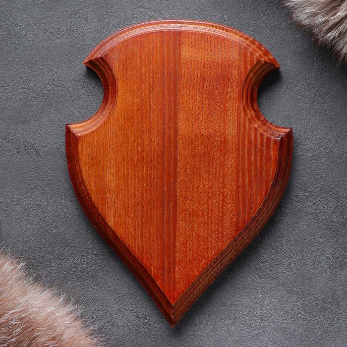 Медальон для охотничьих трофеев, массив дуба, 25 х 20 х 3 см