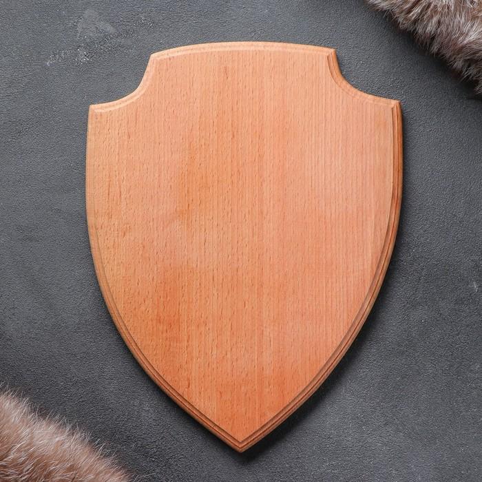 Медальон для охотничьих трофеев «Щит» массив бука, некрашеная 25 х 32 см,