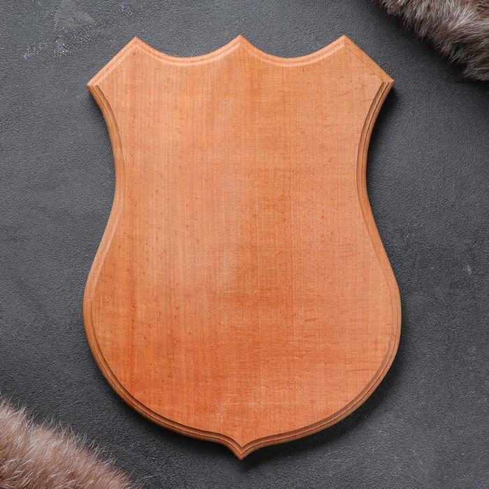 Медальон для охотничьих трофеев «Под рога», некрашеная, 25х32 см, массив бука