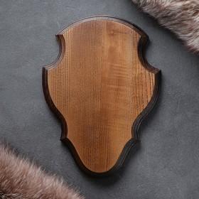 Медальон для охотничьих трофеев, массив дуба, 30 х 20 х 3 см