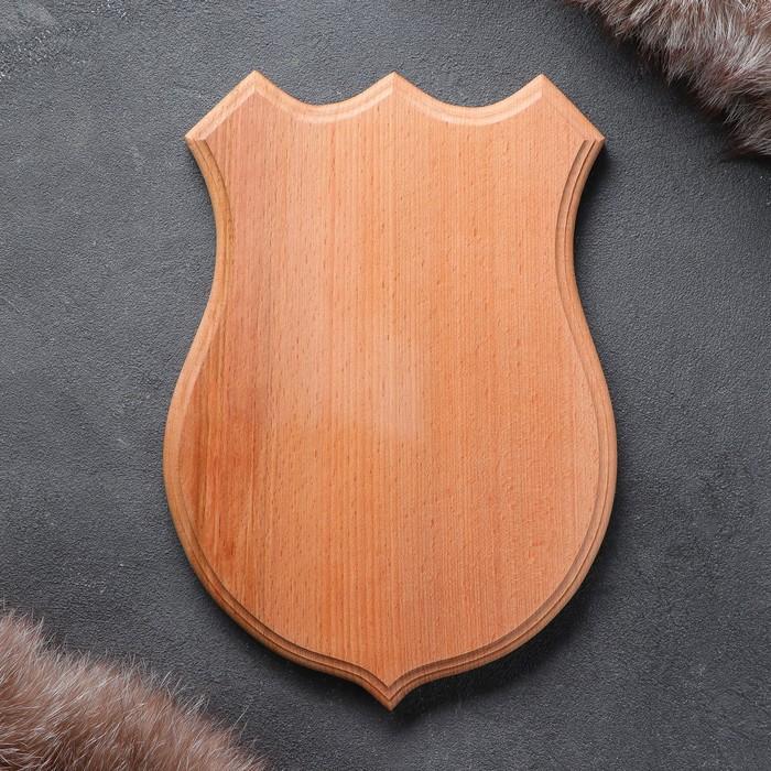Медальон для охотничьих трофеев «Волк» массив бука, некрашеная 19 х 26 см,
