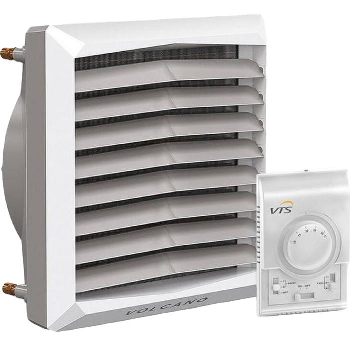 Тепловентилятор Volcano VR Mini AC, 3-20 кВт, расход 2100 м3/ч, до 14 м, белый