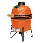 Керамический уличный гриль маленький 40×33×58 см, оранжевый