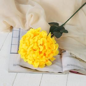 Цветы искусственные 'Герань королевская', 16*60 см, жёлтый Ош