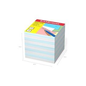 Бумага для заметок Erich Krause 90 x 90 x 90 мм, 2 цвета: белый, голубой