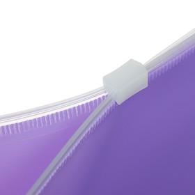 Папка-конверт на гибкой молнии ZIP, А4, пластиковая, ErichKrause Fizzy Pastel, микс - фото 2068648