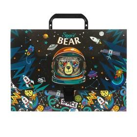 Папка-портфель 1 отделение ErichKrause Space Bear, A4, 325 х 230 х 35 мм, 800 мкм