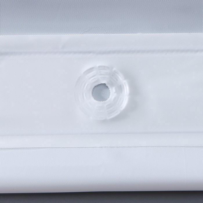 """Blind for the bathroom """"Classic"""" 180х180 cm EVA, color white"""