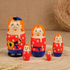 """Матрешка """"Русский мальчик"""", 5 кукльная"""