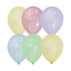 "Шар латексный 12"" Bubble, кристалл, набор 100 шт., МИКС"