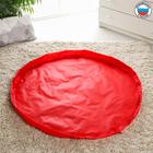 Сумка «Котик», коврик для игрушек, красный, d100 см, оксфорд