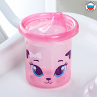 """Cup kids """"Kitten Sophie"""" with rigid spout 200 ml, color pink"""