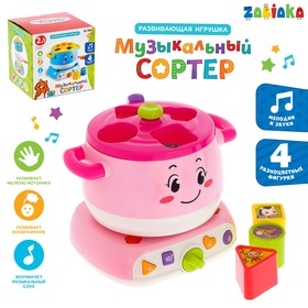 Развивающая игрушка «Музыкальный сортер», свет, звук, МИКС