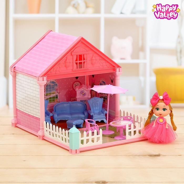 Дом для кукол «Сказочный домик» гостиная, с куклой, МИКС - фото 726660799