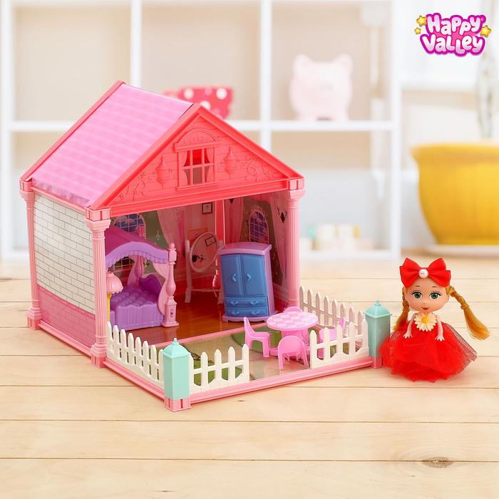 Дом для кукол «Сказочный домик» спальня, с куклой, МИКС