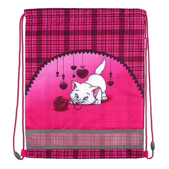 Мешок для обуви 460 х 340 мм Mag Taller Ezzy III, Cat, розовый (сетка для вентиляции, высокопрочный полиэстер 100%)