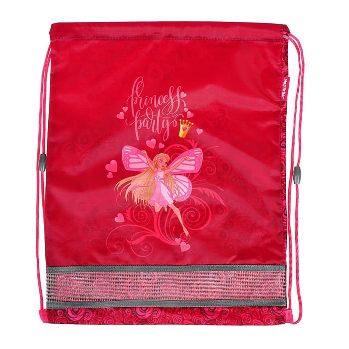 Мешок для обуви 460 х 340 мм Mag Taller J-Flex, Princess, розовый (сетка для вентиляции, высокопрочный полиэстер 100%)