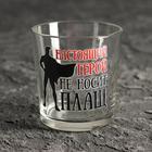 """A glass of whiskey """"a True hero doesn't wear a cloak!"""" 250 ml"""
