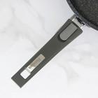 Сковорода «Гранит Бриллиант», d=26 см, съёмная ручка, стеклянная крышка - фото 732835