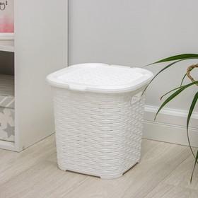 Корзина универсальная «Плетёная», 15 л, 31×30×30,5 см, цвет белый Ош