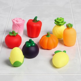 "A set of bath toys ""Vegetable set"", 9 PCs"