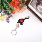 "Rubber keychain ""Revolver"" 3,8х7 cm"