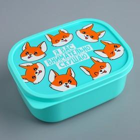 "The lunch box rectangular, 500 ml, ""I carefully you eat"""