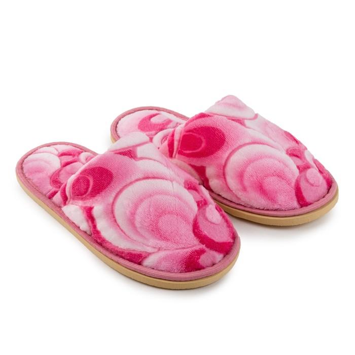 Тапочки женские, цвет 3D розовый, размер 38 - фото 725388230
