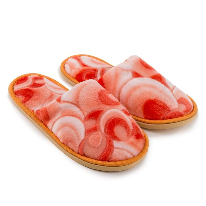 Тапочки женские, цвет 3D оранжевый, размер 40 - фото 730115210
