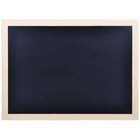 Доска меловая с деревянной рамкой 900*600 мм, цвет чёрный