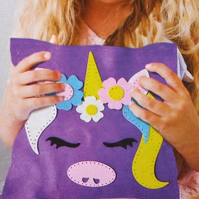 """Sewing kit """"Cushion of felt"""",Unicorn, 25*25 cm"""