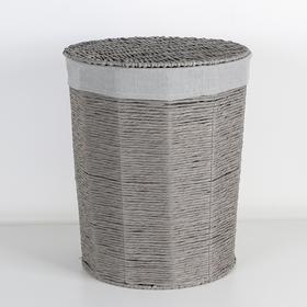 Корзина универсальная плетёная «Классик», 38×38×47 см, цвет серый