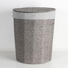 Корзина универсальная плетёная с крышкой «Классик», 43×43×53 см, цвет серый - фото 4636760